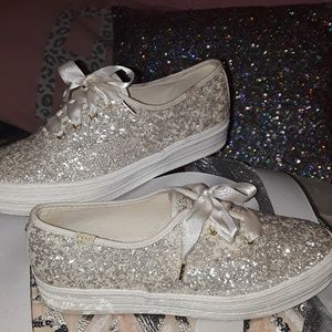 0486a7f5d1f1 Keds X Kate Spade Triple Glitter Sneakers Shoes - Keds X Kate Spade New  York Triple